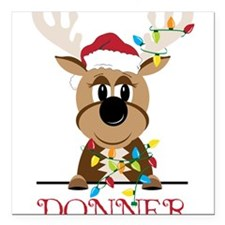 "Donner Square Car Magnet 3"" x 3"""
