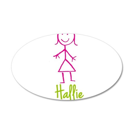 Hallie-cute-stick-girl.png 35x21 Oval Wall Decal