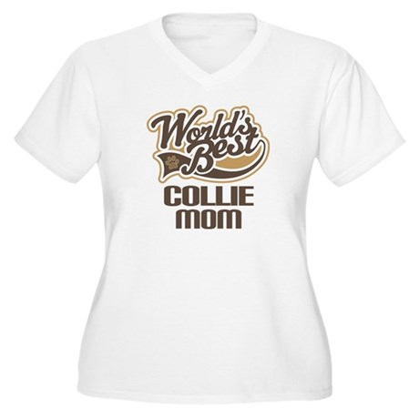 Collie Mom (Worlds Best) Women's Plus Size V-Neck