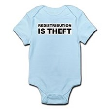 Redistribution is theft.png Infant Bodysuit