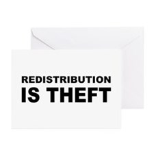 Redistribution is theft.png Greeting Cards (Pk of