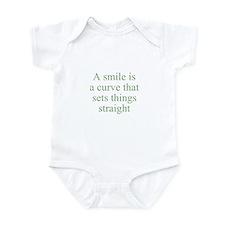 A smile is a curve that sets  Infant Bodysuit