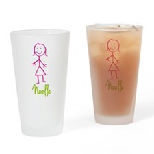 Noelle-cute-stick-girl.png Drinking Glass