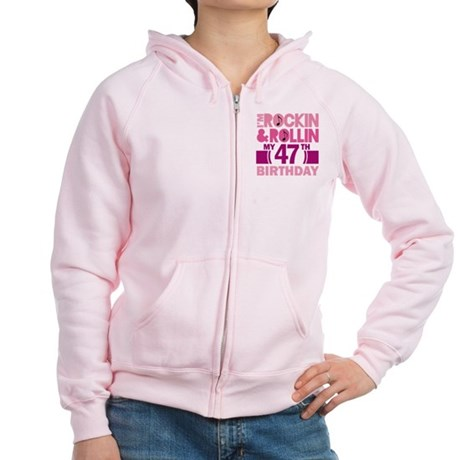 47th Birthday rock and roll Women's Zip Hoodie