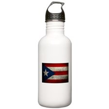 hard woking puerto rican flag Water Bottle