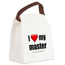 """Love My Master"" Canvas Lunch Bag"
