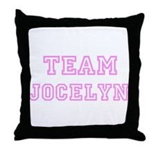 Pink team Jocelyn Throw Pillow