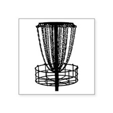 Sticker - Disc Golf Catcher Black Sticker