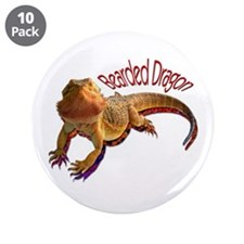 "Bearded Dragon III 3.5"" Button (10 pack)"