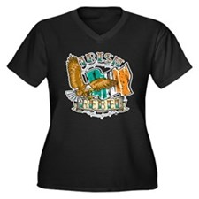 Irish Rebel Gear Ireland Women's Plus Size V-Neck