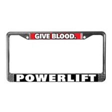 Powerlifting License Plate Frame
