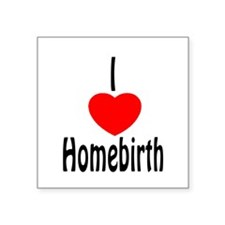 I Love Homebirth - Oval Sticker