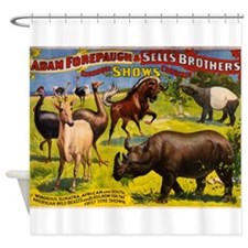 circus ad Shower Curtain