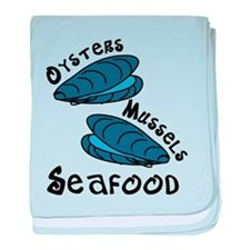 Seafood baby blanket