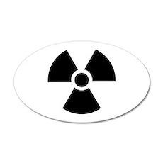 Radiation Warning Symbol 35x21 Oval Wall Decal