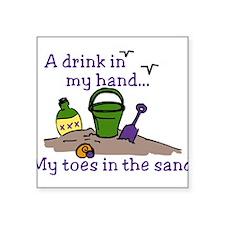 "In The Sand Square Sticker 3"" x 3"""