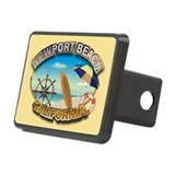 Unique Newport beach Rectangular Hitch Cover