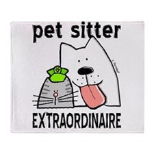 petsitterextraordinaire.png Throw Blanket