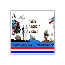 """Native_American_Veterans Square Sticker 3"""" x 3"""""""