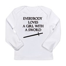 Girl With a Sword Long Sleeve Infant T-Shirt