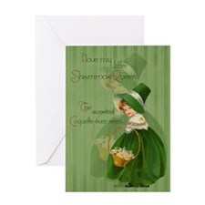 Shamrock Queen Greeting Card