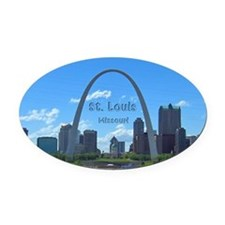 St. Louis Oval Car Magnet