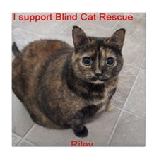 Riley-I support Blind Cat Rescue Tile Coaster