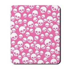 Random Pink Skulls Mousepad