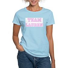 Pink team Lauren Women's Pink T-Shirt