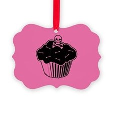 Pink Poison Cupcake Ornament