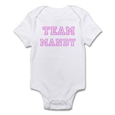Pink team Mandy Infant Bodysuit