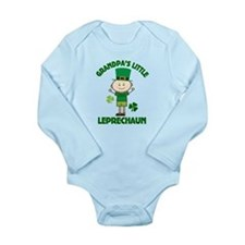 Grandpa's Little Leprechaun Long Sleeve Infant Bod