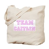 Pink team Caitlin Tote Bag