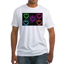 Neon Heart Splatter Shirt