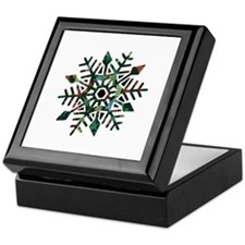 Dark Snowflake Keepsake Box