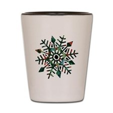 Dark Snowflake Shot Glass