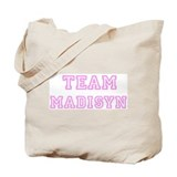 Pink team Madisyn Tote Bag