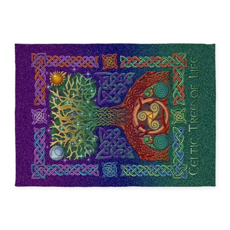 Celtic Tree of Life 5'x7'Area Rug