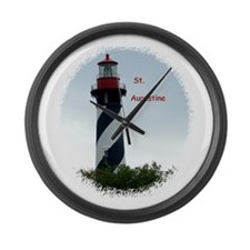 Cute Lighthouses Large Wall Clock