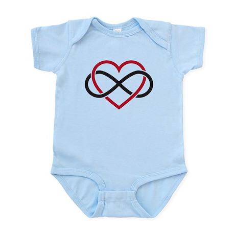 Infinity heart, never ending love Infant Bodysuit
