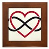 Infinity heart, never ending love Framed Tile