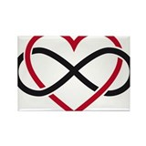 Infinity heart, never ending love Rectangle Magnet