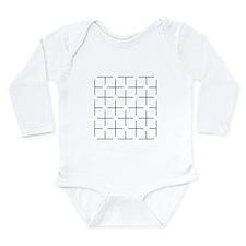 Ehrenstein illusion - Long Sleeve Infant Bodysuit