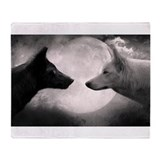 Best selling wolf Throw Blanket