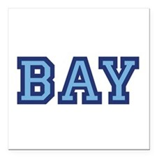"The Bay School Generic Logo Square Car Magnet 3"" x"