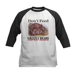 Don't Feed Grizzly Bears They Kids Baseball Jersey