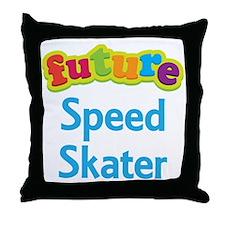 Future Speed Skater Throw Pillow
