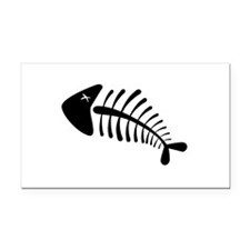 Fish Skeleton Bones Rectangle Car Magnet