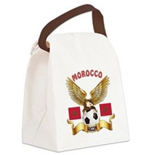 Morocco Football Design Canvas Lunch Bag