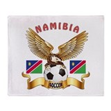 Namibia Football Design Throw Blanket